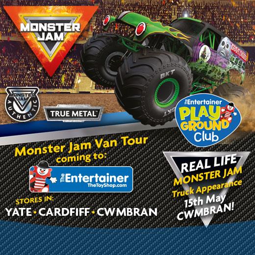 Monster Jam Van Tour at The Entertainer Cwmbran
