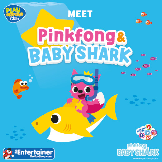 Meet Pinkfong and Baby Shark at The Entertainer, Cwmbran Centre