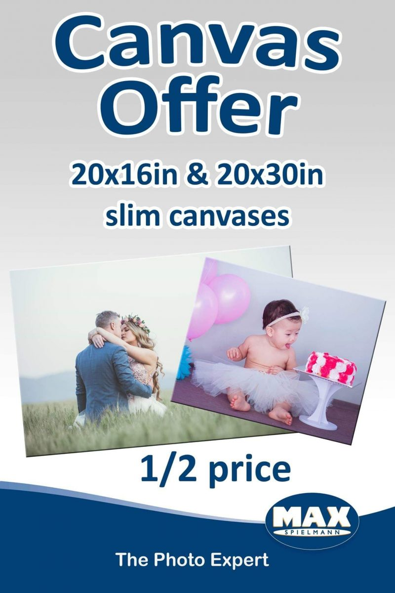 half price canvas offer for Father's Day