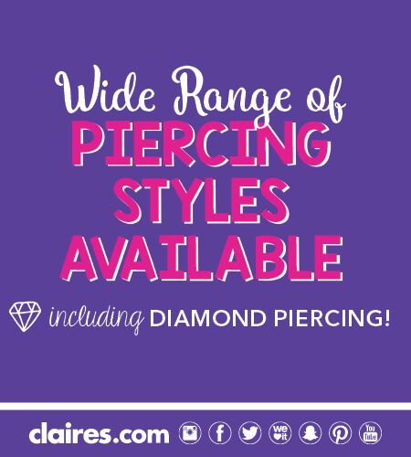 FREE* Piercing at Claire's and more!
