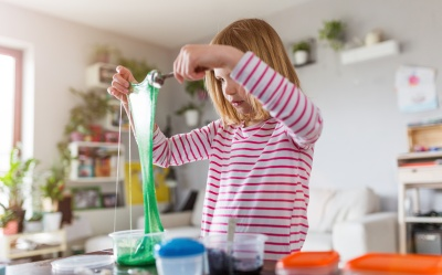 child making slime